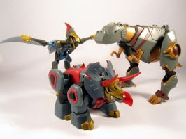 The animated dinobots by scoobsterinc
