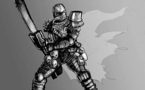 Chainsaw Knight by Bored-Drawfriend