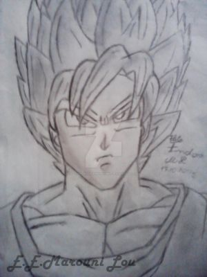 Goku SuperSaiyan 2 by ElithaEndoraMarouniL