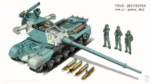 Type 27 Tank Destroyer by MikeDoscher
