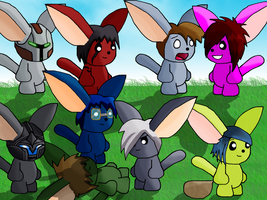 AE Team in animals AQWorlds by NeverSayNoToMe