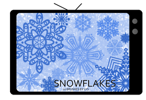 Snowflake Brushes by u-lys