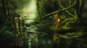 Mysterious Folk In The Forest by Energiaelca1