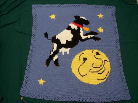 Cow Jumped Over the Moon by crochetty-spinner