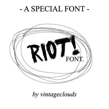 Riot -Paramore- Font. by vintageclouds