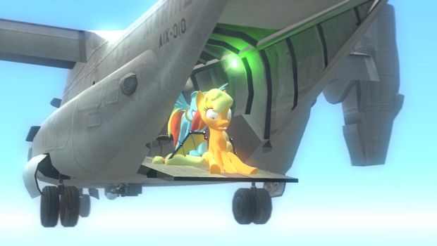 G's M : Applejack Learn to first fly by knightnew