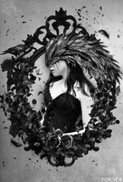 Crow Frame by PM-ForeverArts