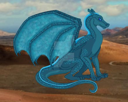 T'killion's blue Emryth of Igen Weyr by LuckyDrakes