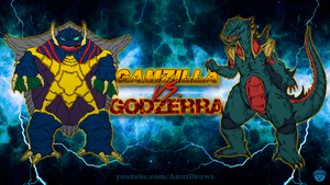 Gamzilla vs. Godzerra by AnutDraws