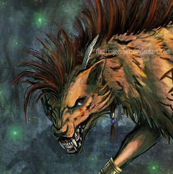 Red XIII Head by FleetingEmber