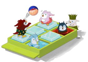 Penguin Pool by nufonza