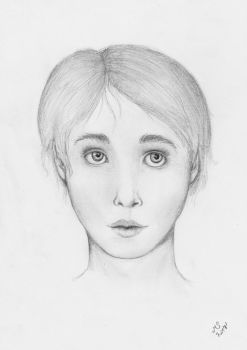 Female face study by TinariwenMS