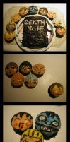 Death Note Cake and Cupcakes by DaydreamingCow