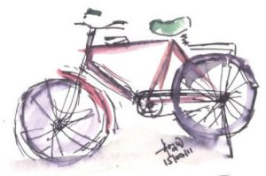 red bicycle by pnna