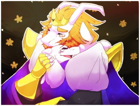 Asgore x Toriel (WIthout Text) by The-Wing3d-Cat