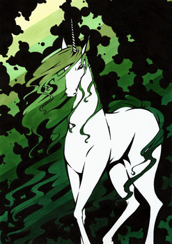 Unicorn in Green by LimboTheLost