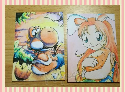 two ATCs by Myaco