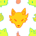 repeating cat-wolf tile by onisuu