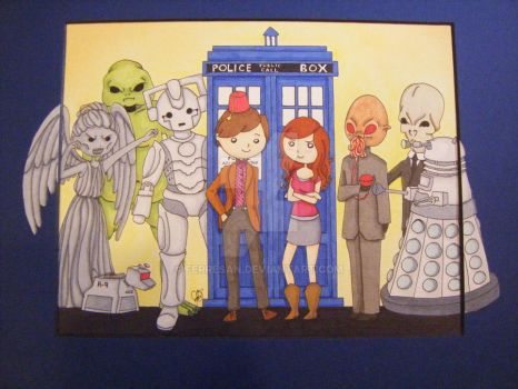Doctor Who and Monsters by ferresan