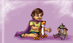 Bonnie and Hobbes by ErinPtah