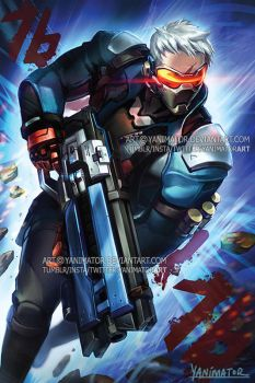 Overwatch Soldier76 IVE GOT YOU IN MY SIGHTS! by yanimator