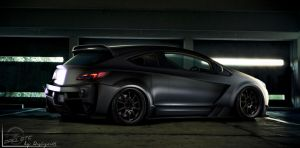 Opel Astra GTC black mat by thedesign05
