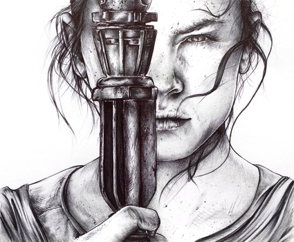 Rey from 'Star Wars: The Force Awakens' by Tiahli