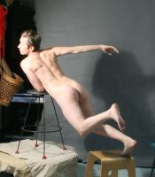 Flying nude man 1 by TheMaleNudeStock