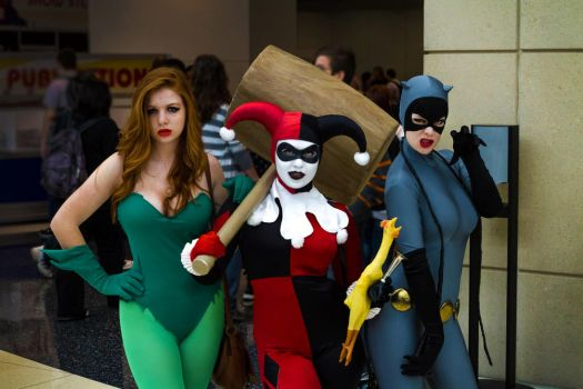 Ivy, Harley, and Catwoman: C2E2 2012 by eatsleepbroadway