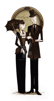 Mr. and Mrs. Glaseye by erebun