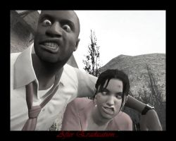 Zoey and Louis - Left4Dead by Mymy62