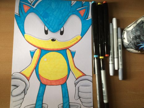 Sonic The Hedgehog by obnoxiouskez