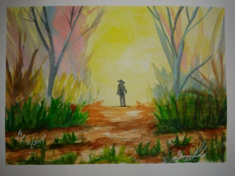 The Journey Starts (watercolor) by GregsMind