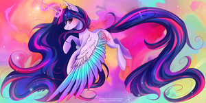 Princess Twilight Sparkle [redraw] by Wilvarin-Liadon