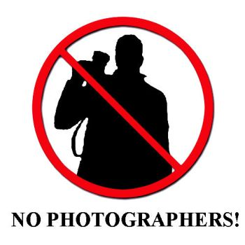 No Photographers. by Brendeth