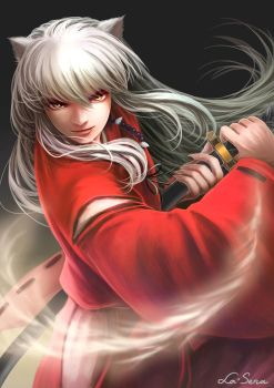 Inuyasha: Battle Aura by la-sera