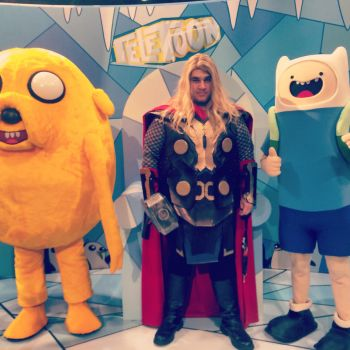 Adventure Time with Finn Jake and Thor by Lecyk