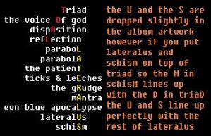 Alternate track order for Lateralus [Archive] - The Tool