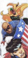 Marvel Premiere: Trifold Young Avengers by jeffwamester