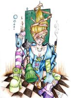 Drugged Alice by squidmaiden