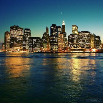 new york skyline. by simoendli