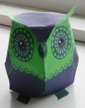 Purple and Green Owl by anniet1234