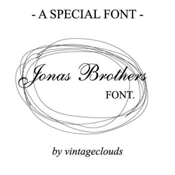 The Jonas Brothers Font. by vintageclouds
