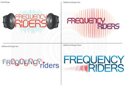 Frequency Riders -Logo Design- by JessicaValerie-n-Co
