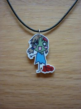 Zombie Girl Necklace by danielleromig