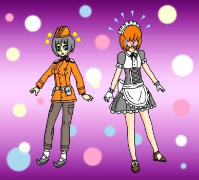 Jo and Haruka Outfit Swap by Hexidextrous