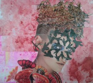 Crawling Fashion,2015,collage,290x290mm by Maria-the-artist