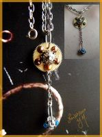 Steampunk necklace by PlacebicYue