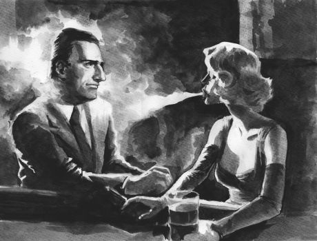 Noir Watercolor Illustration by alonsomolina1985