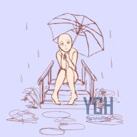 YCH - Rainy Day (OPEN AUCTION) by zerou